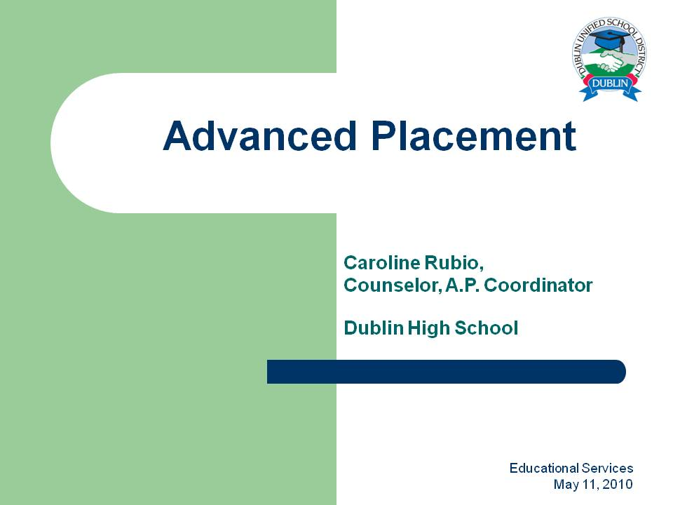high school and advance placement classes Placement in freshman honors classes is based on middle school grades, high school placement test scores, and our own placement exam scores in select subjects.