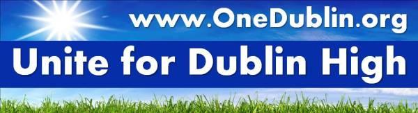 Unite for Dublin High Car Magnet
