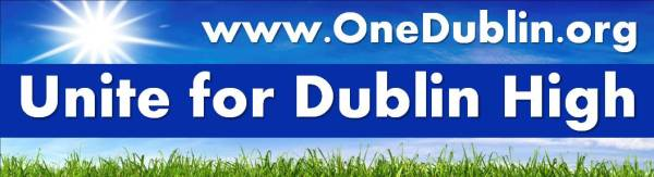 Unite for Dublin High Car Magnet