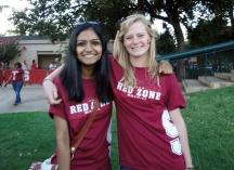 Ravali Reddy (left) and roomate