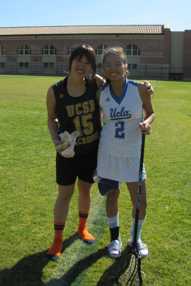 Me with fellow DHS Grad and lacrosse player Kirsten Koa