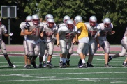 Offensive Line Left to Right: Ben Dvorak, me, Anthony Haro, Seth Woodiwiss, and Charlie Miller)