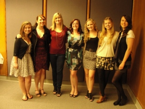 Ann Kenney (third from left) with Academic Study Group