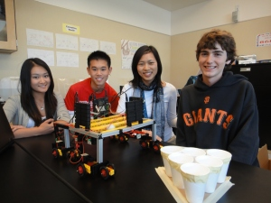 Eugene Chou with Engineering Academy Students