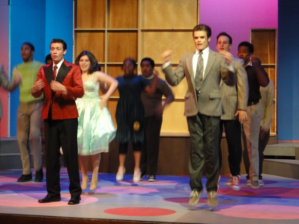 Chris Harral (left) in Hairspray