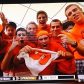 Chandler Bullock with Fellow Syracuse University Fans on ESPN