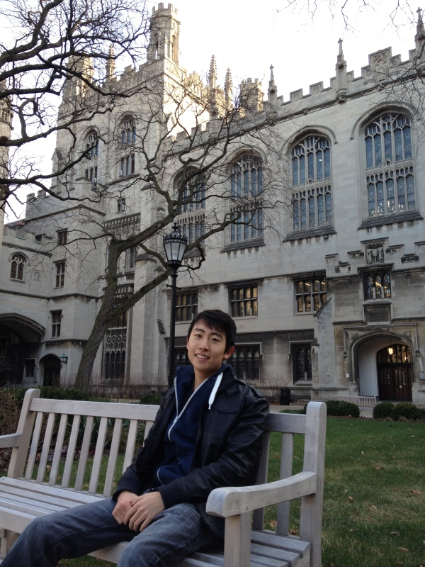 Andrew Song in the Main Quad - University of Chicago