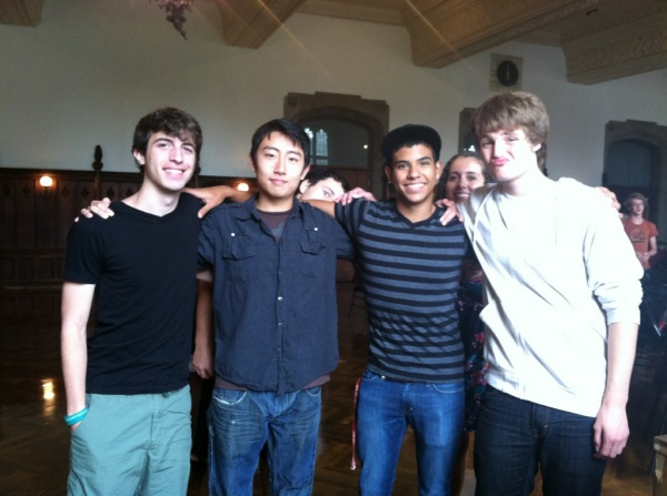 Andrew Song with Friends at the University of Chicago