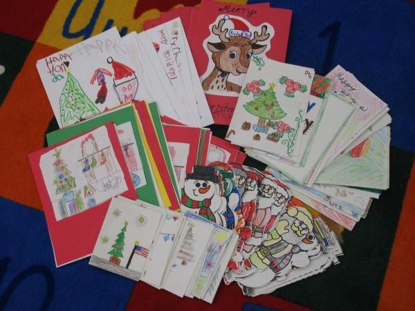 Frederiksen Elementary School Student Holiday Cards to US Troops - 1
