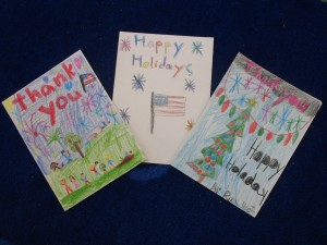 Frederiksen Elementary School Student Holiday Cards to US Troops - 2