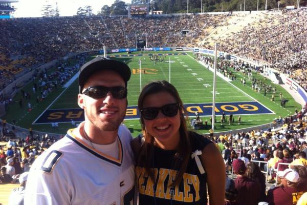 Tatum Wheeler and Cousin at the UC Berkeley Memorial Stadium