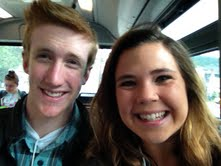 Tatum Wheeler and Joe Nealon Riding the Bus to the UC Berkeley Campus