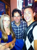 Chris Harral in New York City with Paul Rudd