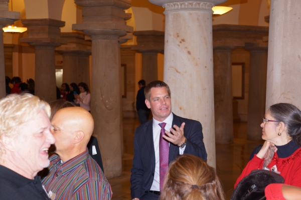 Congressman Eric Swalwell with Capitol Tour for Supporters