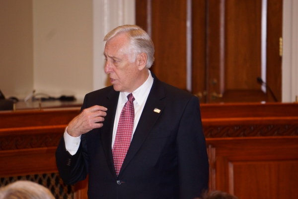 Democrat Whip Steny Hoyer at the Eric Swalwell Ceremonial Swearing-In Event