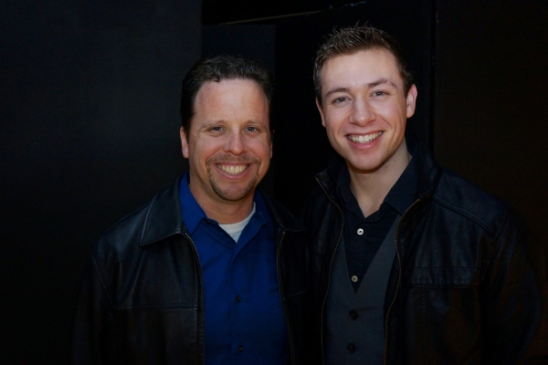 Dublin High School Drama Director Bryant Hoex and Class of 2012 Graduate Chris Harral
