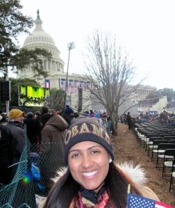 Dublin High School Graduate Monica Moorjani at the 57th Presidential Inauguration