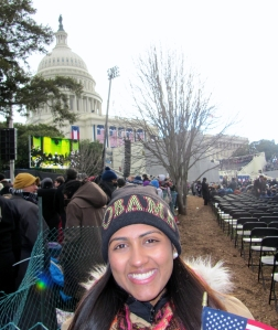 Dublin High School Graduate Monica Moorjani at the 57th Presidential Inauguration