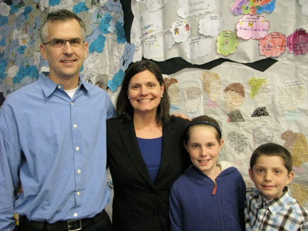 Megan Rouse with her family