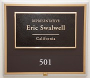 Eric Swalwell Cannon House Office Building 501 Nameplate