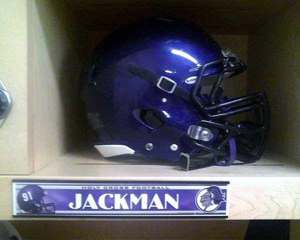 Holy Cross Football Clint Jackman Locker