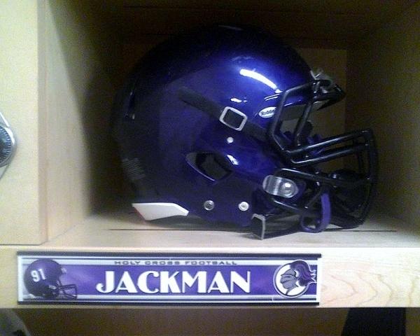 Holy Cross Football Clint Jackman Locker