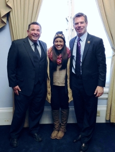 Sbranti and Swalwell with DHS student