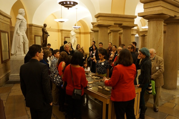 Tour of the Capitol for Congressman Eric Swalwell Supporters