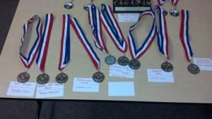 Dublin High School Academic Decathlon Team Medals Alameda County Regional Competition