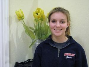 Dublin High School Cheerleader  Quinn Bennett