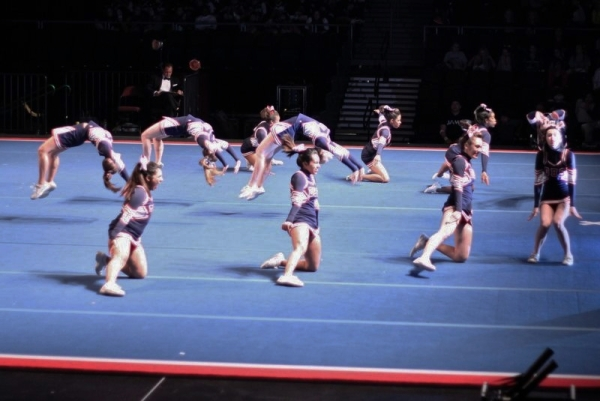 Dublin High School Competitive Cheer in Action