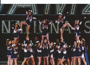 Dublin High School Junior Varsity Cheerleading Pyramid