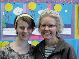 Dublin High School Senior Alexandra Brown with mother and Frederiksen Elementary School Teacher Catherine Brown