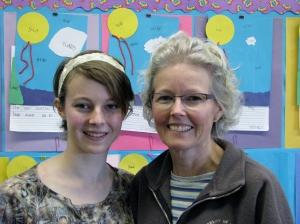 Dublin High School Senior Alexandra Brown with mother and Frederiksen Elementary School Teacher Catherine Brown