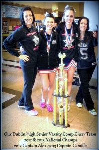 Dublin High School Varsity Cheer Trophy