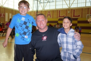 Eric Hamilton with Special Olympics Participants