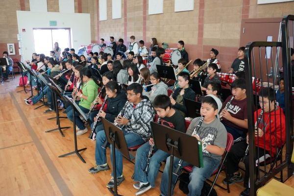 Fallon Middle School Band Performs at the Special Olympics Northern California Event