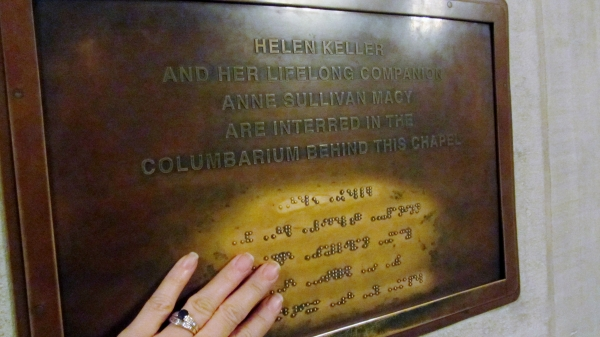 Plaque Marking Helen Keller and teacher Anne Sullivan tombs