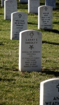 Wells Middle School Trip to Arlington National Cemetery Grave of Medal of Honor Recipient Cpl Larry Smedley