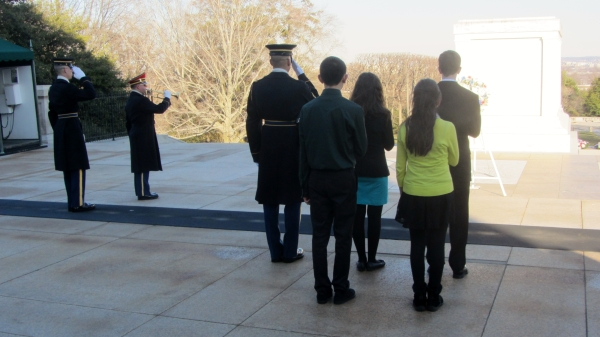 Wells Middle School Trip to Arlington National Cemetery - Tomb of the Unknown Soldier