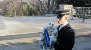 Wells Middle School Trip to Arlington National Cemetery - Wells Wreath Laid at the Tomb of the Unknown Soldier
