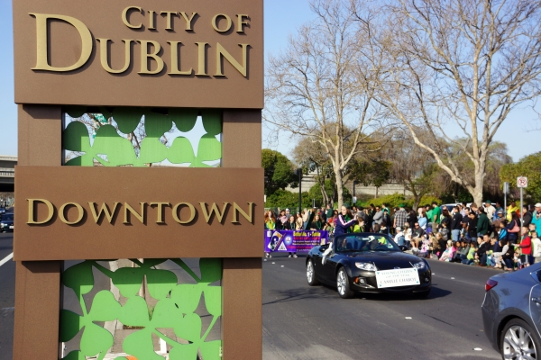Downtown at the City of Dublin St Patricks Day Parade 2013