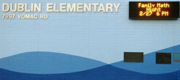 Dublin Elementary School Family Math Night