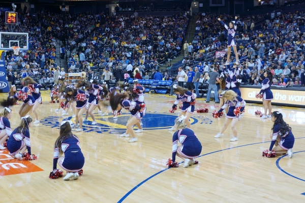 Dublin High School Cheer Team - Warriors Half Time Show