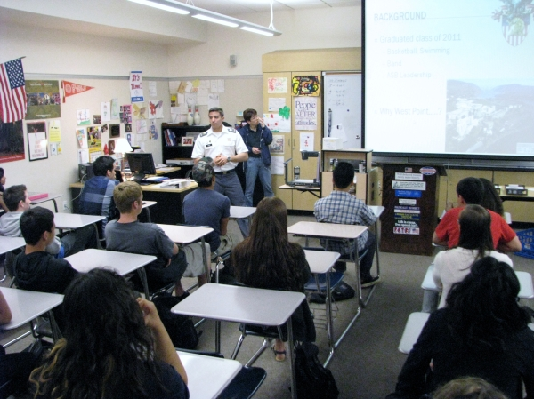Dublin High School Class of 2011 Graduate and West Point Cadet Ben Young Present to Dublin High Students