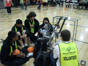 Dublin High School Gaels Robots Basketball Throwing Machine for Special Olympics Event - 2