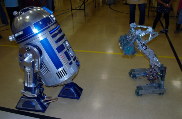 Dublin High School VEX Robot vs Star Wars Robot