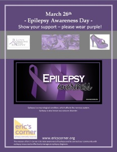 Epilepsy Awareness Day March 26 2013