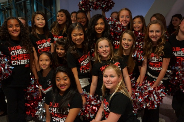 Fallon Middle School Cheer Team at the Oracle Arena for the Warriors Half Time Show