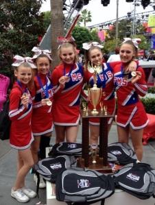 Fallon Middle School Cheer Team Members